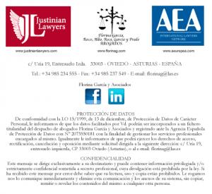 Florina Garcia y Asociados Abogados Justinian lawyers Asociación Europea de Abogados Protección de datos y confidencialidad